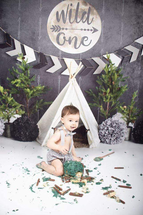 Katebackdrop:Kate Wild One Boy First Birthday Backdrop Designed By Mandy Ringe Photography