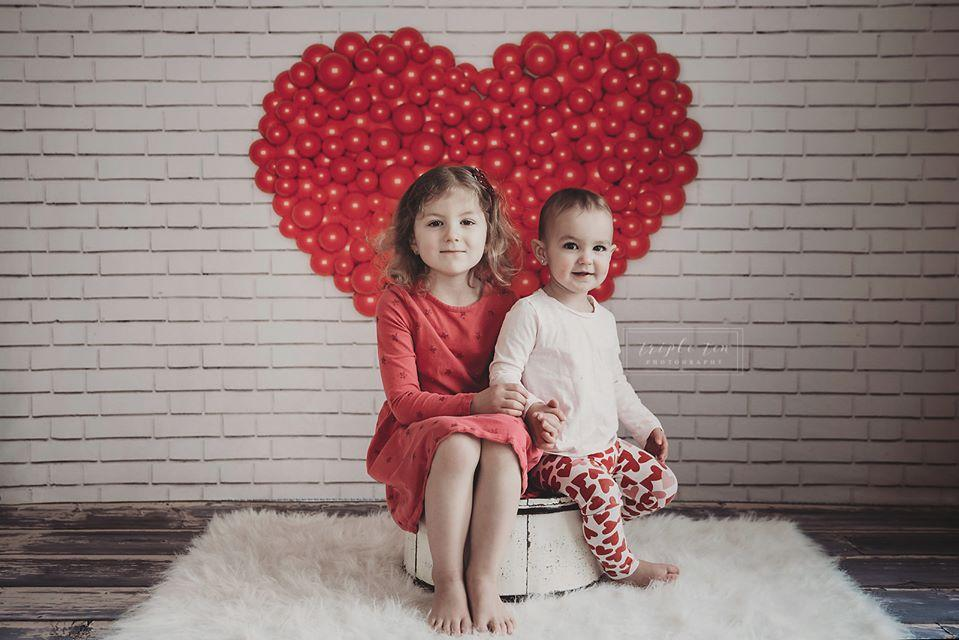 Kate Valentine's Day Love White Wall Backdrop for Photography