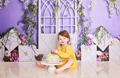 Katebackdrop:Kate Spring Purple Floral Backdrop Designed by Megan Leigh Photography