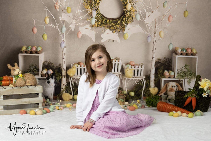 Katebackdrop£ºKate Easter Egg Trees and Bunnies Backdrop Designed By Mandy Ringe Photography