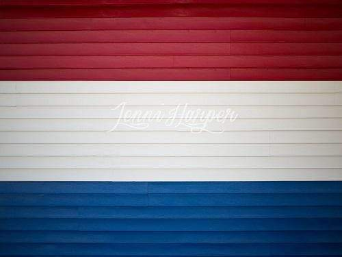 Katebackdrop:Kate Red White and Blue Wood Backdrop for Photography Designed by Pine Park Collection