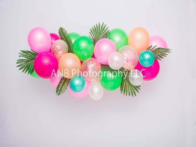 Kate Summer Backdrop Balloons Moana Designed By Alisha Byrem
