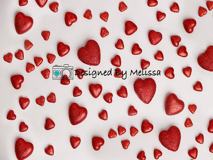 Kate Valentine's Day Red Hearts Backdrop Designed by Melissa King