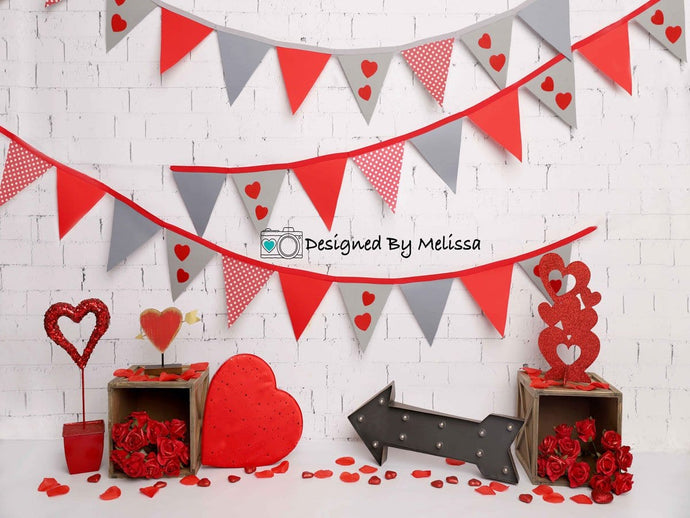Kate Valentine's Day Party Backdrop Designed by Melissa King
