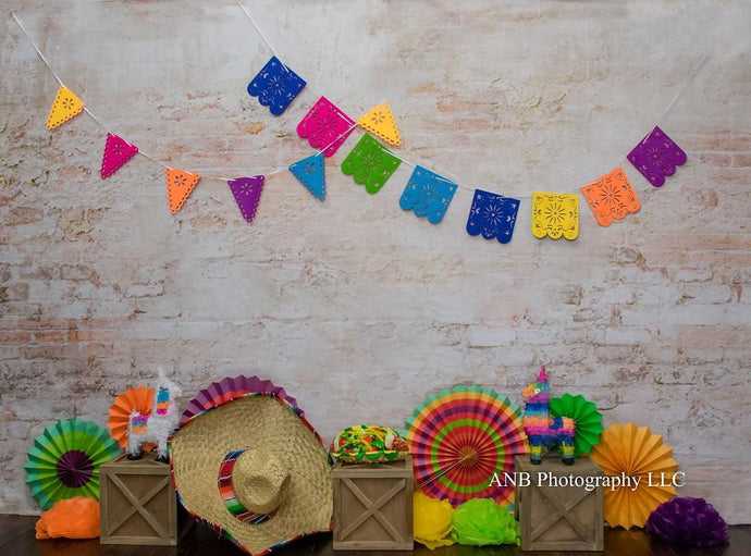 Kate Cinco De Mayo Fiesta Brick Wall Backdrop Backdrop Designed By Alisha Byrem