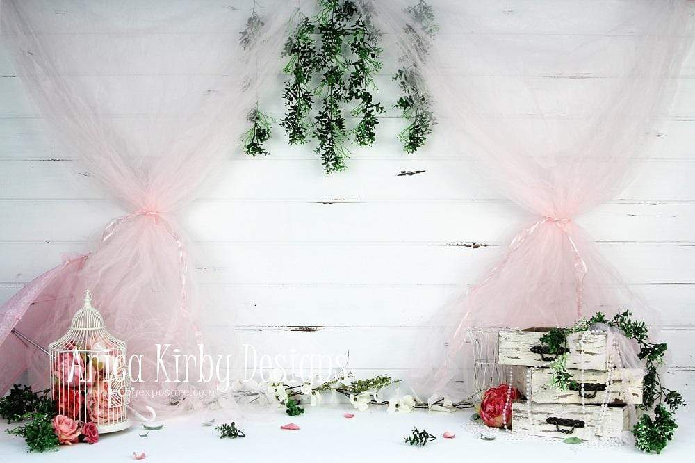 Load image into Gallery viewer, Katebackdrop£ºKate Garden Party in Pink Backdrop designed by Arica Kirby