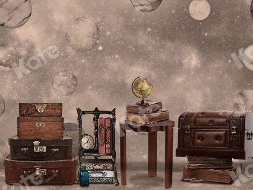 Kate Vintage Suitcase and Book Travel with me Backdrop for Children Designed By Ava Lee