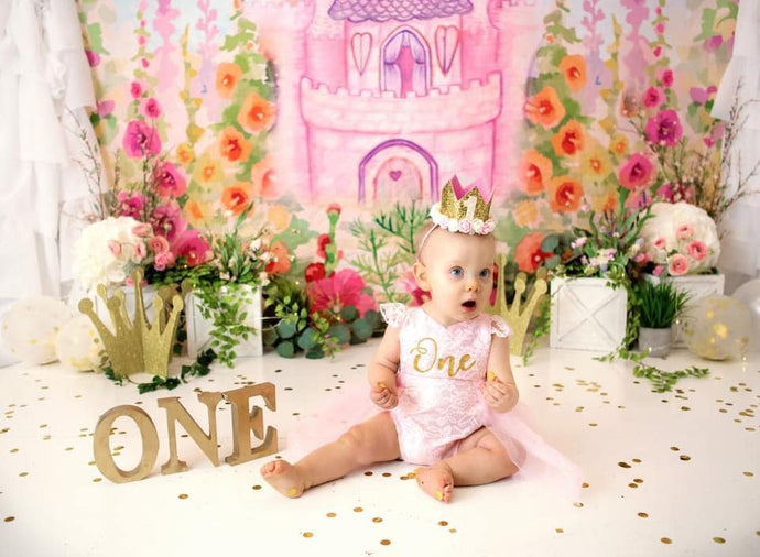 Katebackdrop£ºKate Spring Castle Flower Garden Backdrop Designed By Ava Lee