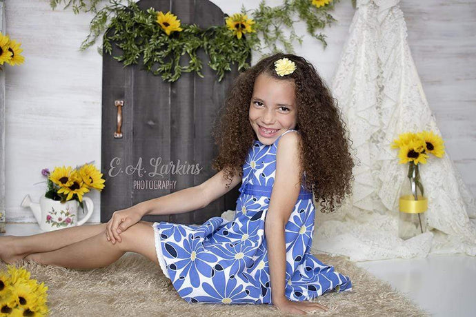 Kate Sunflower Home for Children Backdrop for Photography Designed By Erin Larkins