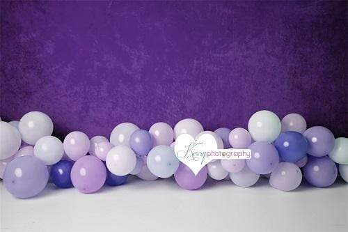 Katebackdrop:Kate Purple Balloons for Children Backdrop for Photography Designed by Kerry Anderson