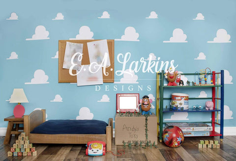 Kate Toy Room Children Backdrop for Photography Designed by Erin Larkins
