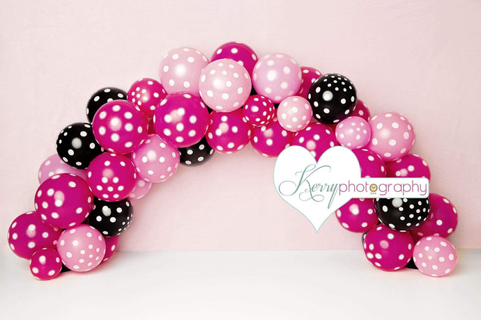 Katebackdrop£ºKate Black Pink Balloons for Children Backdrop for Photography Designed by Kerry Anderson