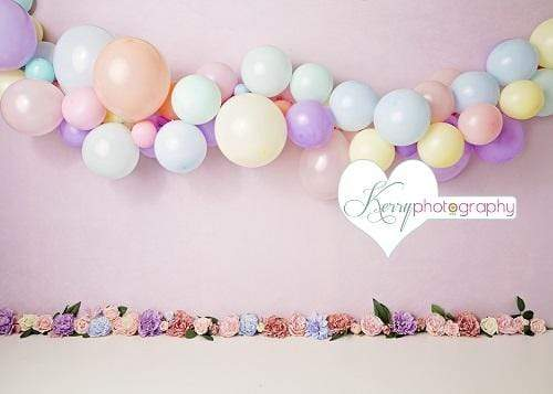 Katebackdrop£ºKate Floral Balloons for Children Backdrop for Photography Designed by Kerry Anderson