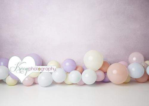 Katebackdrop£ºKate Light Purple Balloons for Children Backdrop for Photography Designed by Kerry Anderson