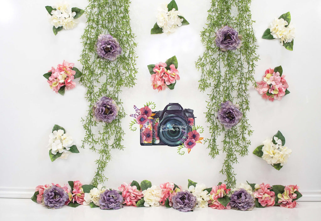 Katebackdrop£ºKate  Flower Grass Decoration Backdrop for Photography Designed By Leann West