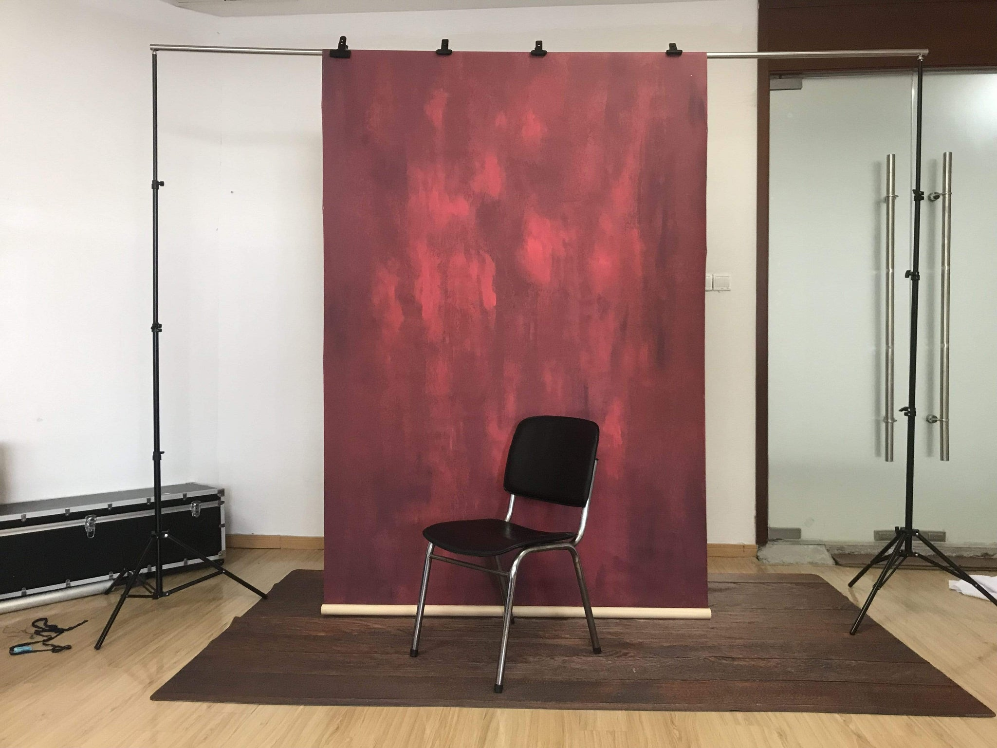 Load image into Gallery viewer, Katebackdrop£ºKate Hand Painted Abstract Texture Red Color Backdrops