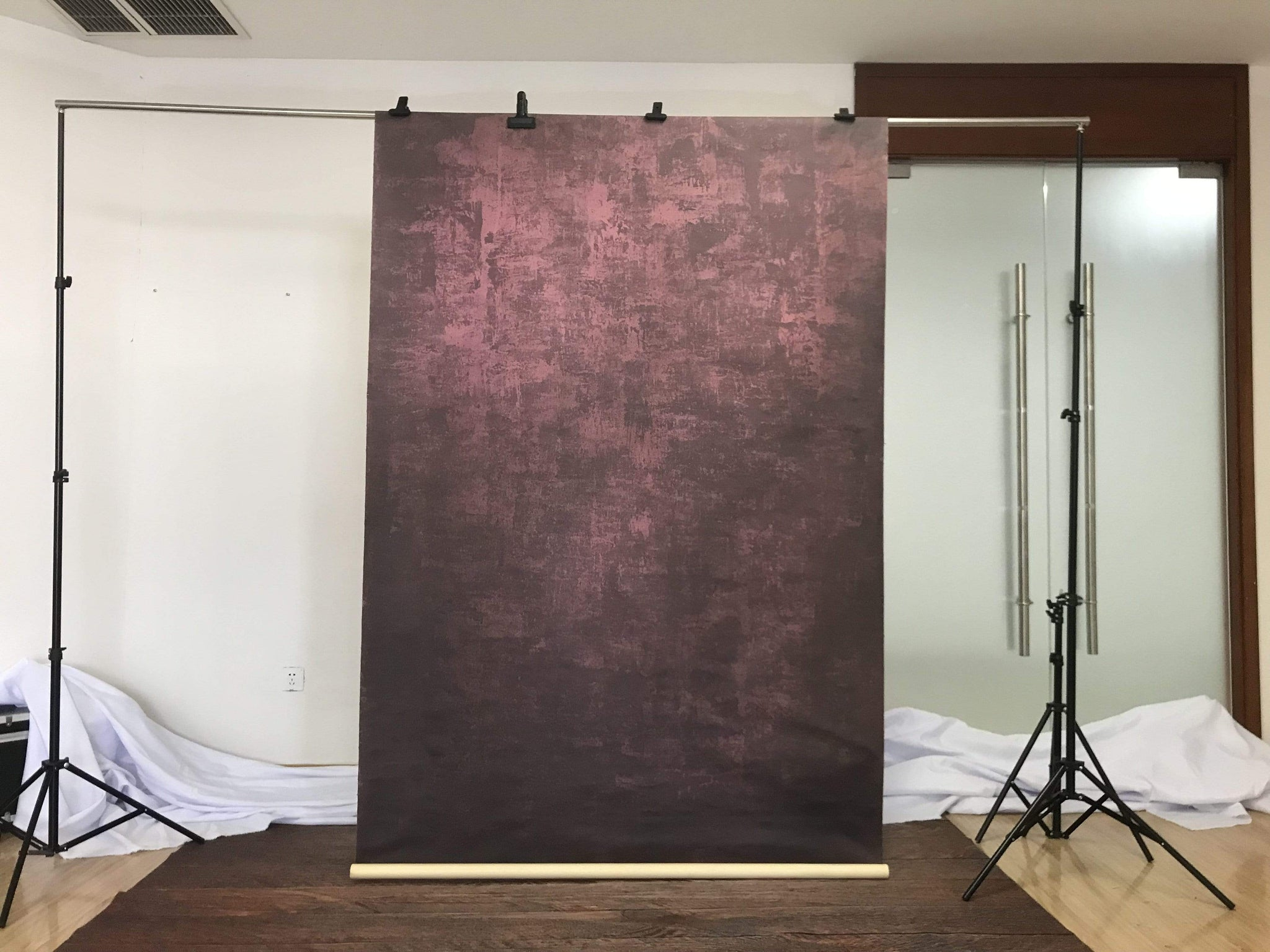 Load image into Gallery viewer, Katebackdrop£ºKate  Abstract Texture Dark Red Little Black Spray Painted Backdrops