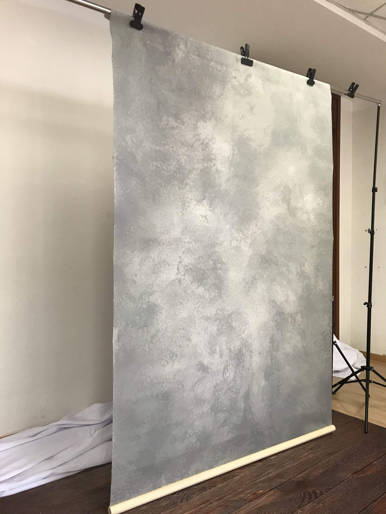 Load image into Gallery viewer, Katebackdrop£ºKate Hand Painted Abstract Texture Cold Grey Backdrops