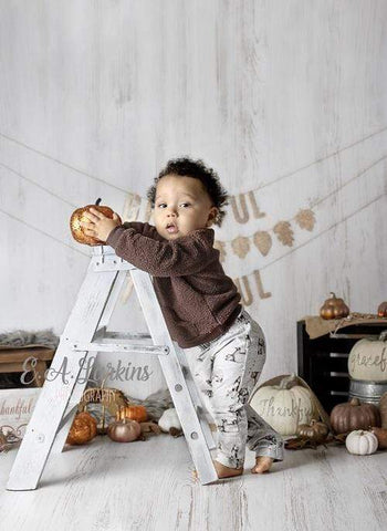Kate Children Golden Fall Thanksgiving Day Backdrop for Photography Designed By Erin Larkins