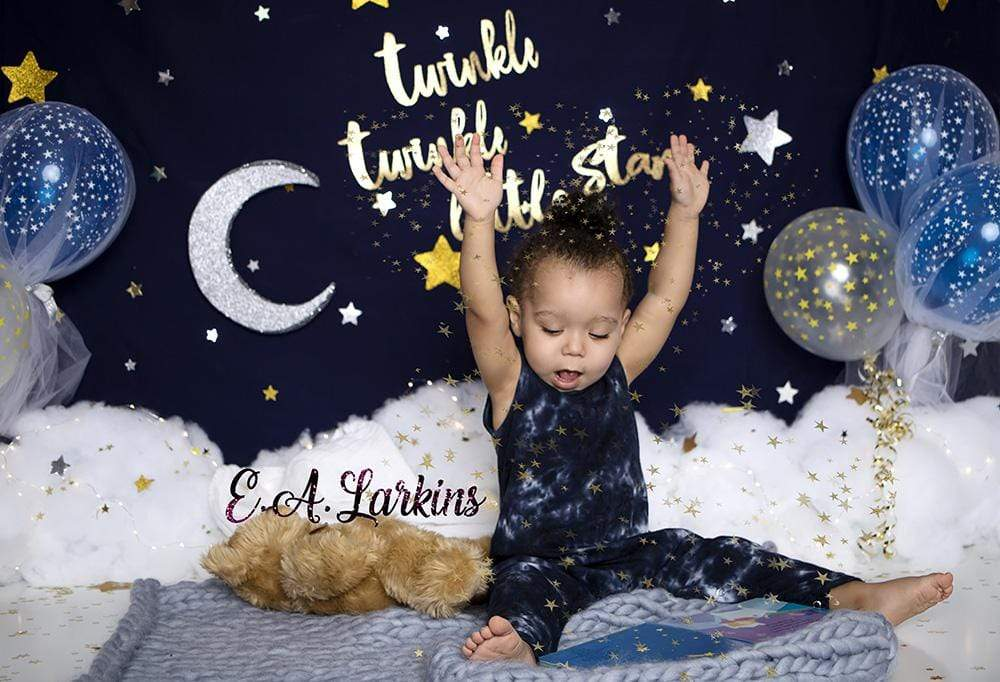 Load image into Gallery viewer, Katebackdrop£ºKate  Twinkle Stars with Balloons Backdrop for Photography Designed By Erin Larkins