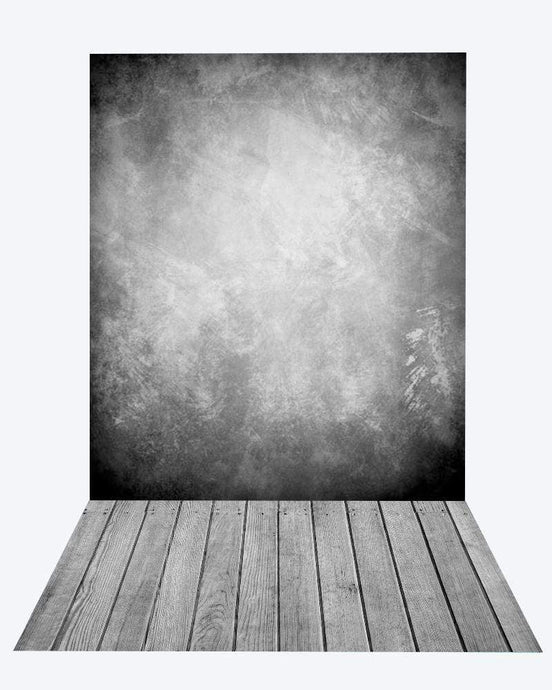 Katebackdrop:Kate gray abstract texture backdrop + wood floor mat