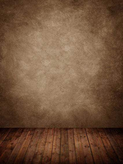 Katebackdrop£ºKate Abstract Brown Texture Backdrop with Wood Floor for Photography
