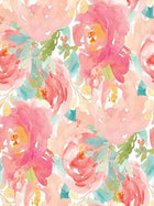 Katebackdrop:Kate Retro Pink Flower White Background Children Photography Backdrop
