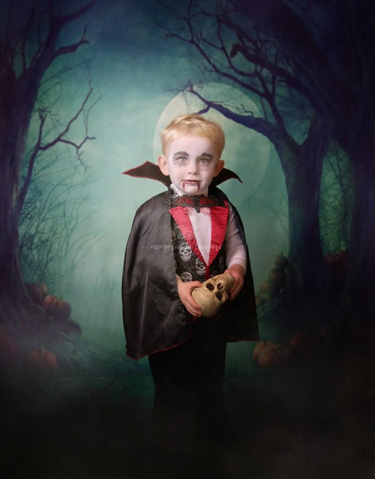Katebackdrop:Kate Photography Fantastic Halloween Backdrops Forest Night Moon