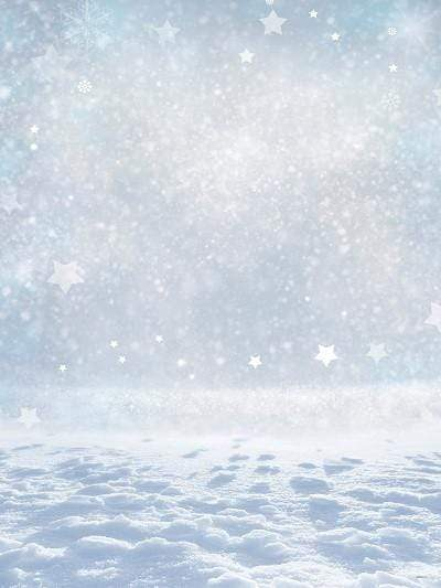Kate Winter Snow Sliver White Star Glitter Photo Props Backdrop - Katebackdrop