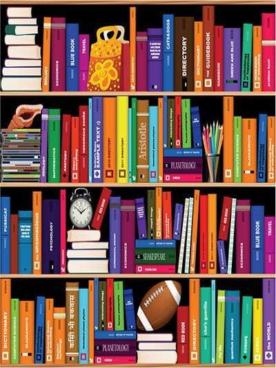 Katebackdrop:Kate Bookshelf Backdrop Alarm Clock Colorful Books Photography children