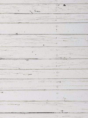 Kate Retro Style White Wood Wall Photography Backdrop