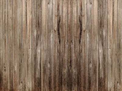 4x5ft Kate Light Brown and Gray Wood Computer Printed Rubber Floor mat