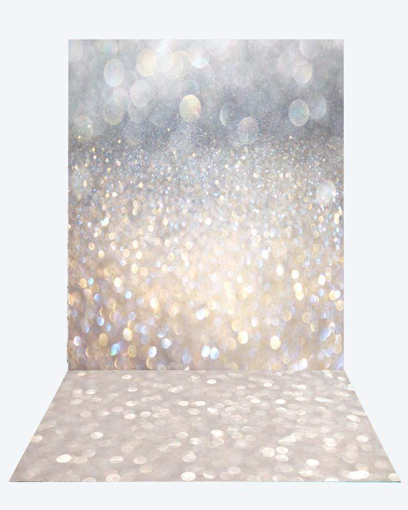 Katebackdrop¡êoKate Sliver Gold Bokeh Backdrop for Children Photography Studio+Kate Bokeh rubber floor mat