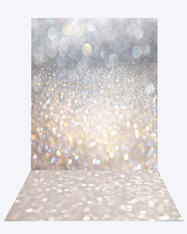 Kate Sliver Gold Bokeh Backdrop for Children Photography Studio+Kate Bokeh rubber floor mat