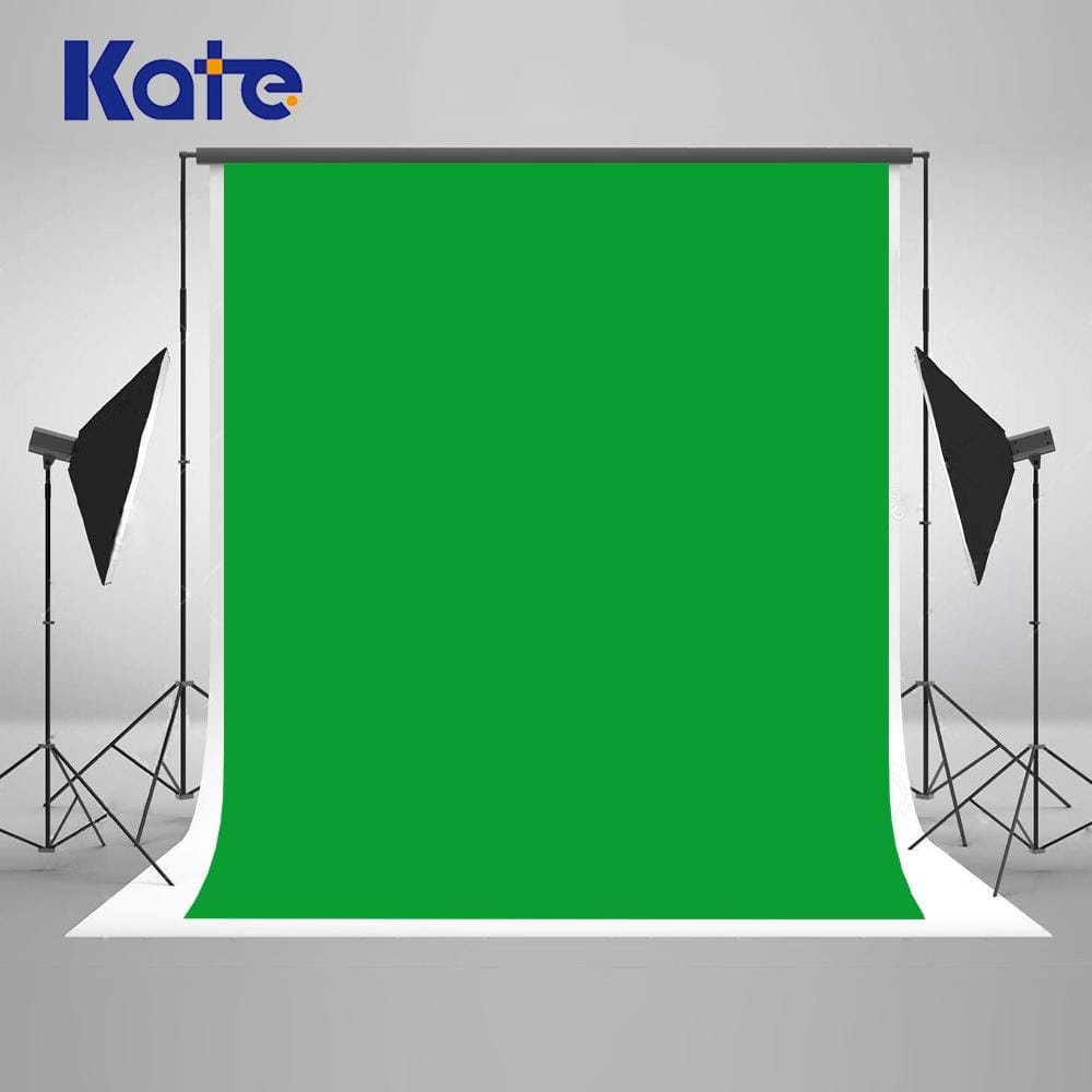 Kate Solid Green Screen Fabric Backdrop for Photography - Katebackdrop
