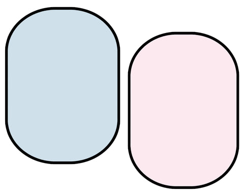Kate Solid Light Blue/ Solid Light Pink Collapsible Backdrop Photography 5X6.5ft(1.5x2m)