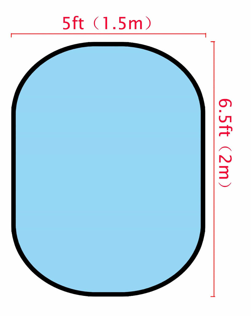 Katebackdrop£ºKate Solid Light Blue/ Solid Rose Red Collapsible Backdrop Photography 5X6.5ft(1.5x2m)