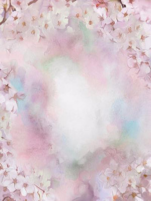 Kate Abstract White Flower Pink Background Photography Backdrop
