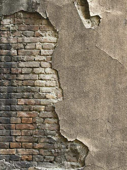 Katebackdrop:Kate Grey Damaged  Cement Brick Backdrop for Senior Photo