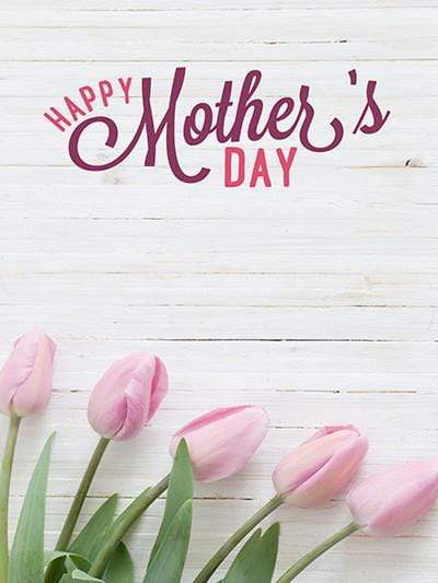 Katebackdrop:Kate White Wooden Floral Background Happy Mother'S Day