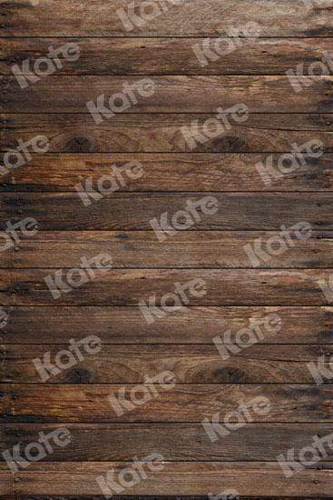 Katebackdrop:Kate Dark Wooden Backdrop For Children Picture