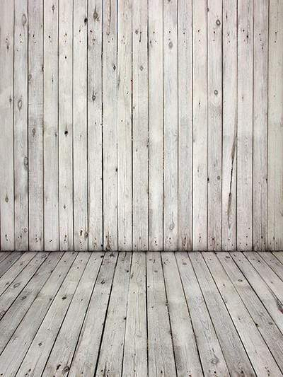 Katebackdrop:Kate White Old Wood Floor Retro Children Backdrops For Photograhy