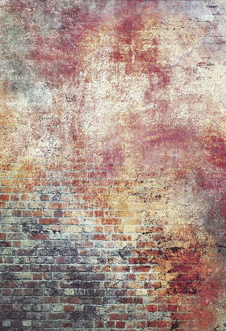 Katebackdrop:Kate Retro color brick photography backdrop