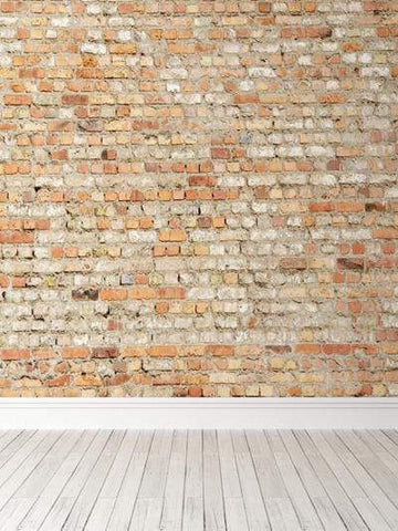 Kate Retro Brick Wall Backdrop with Floor