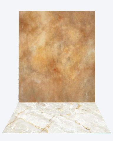 Kate lighter brown like texture backdrop photo studio+Kate White Marble Texture rubber floor mat