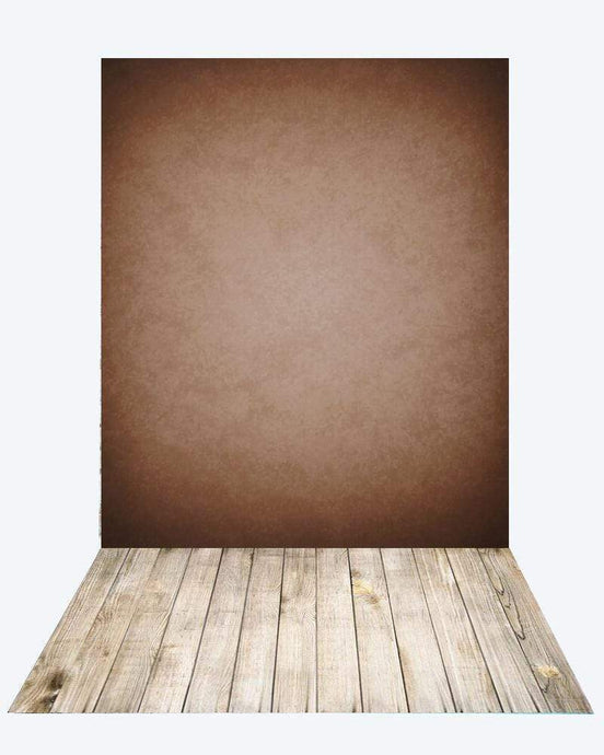 Katebackdrop¡êoKate Old Master Abstract Texture Light Brown Backdrop for Photography+Kate Wood rubber floor mat