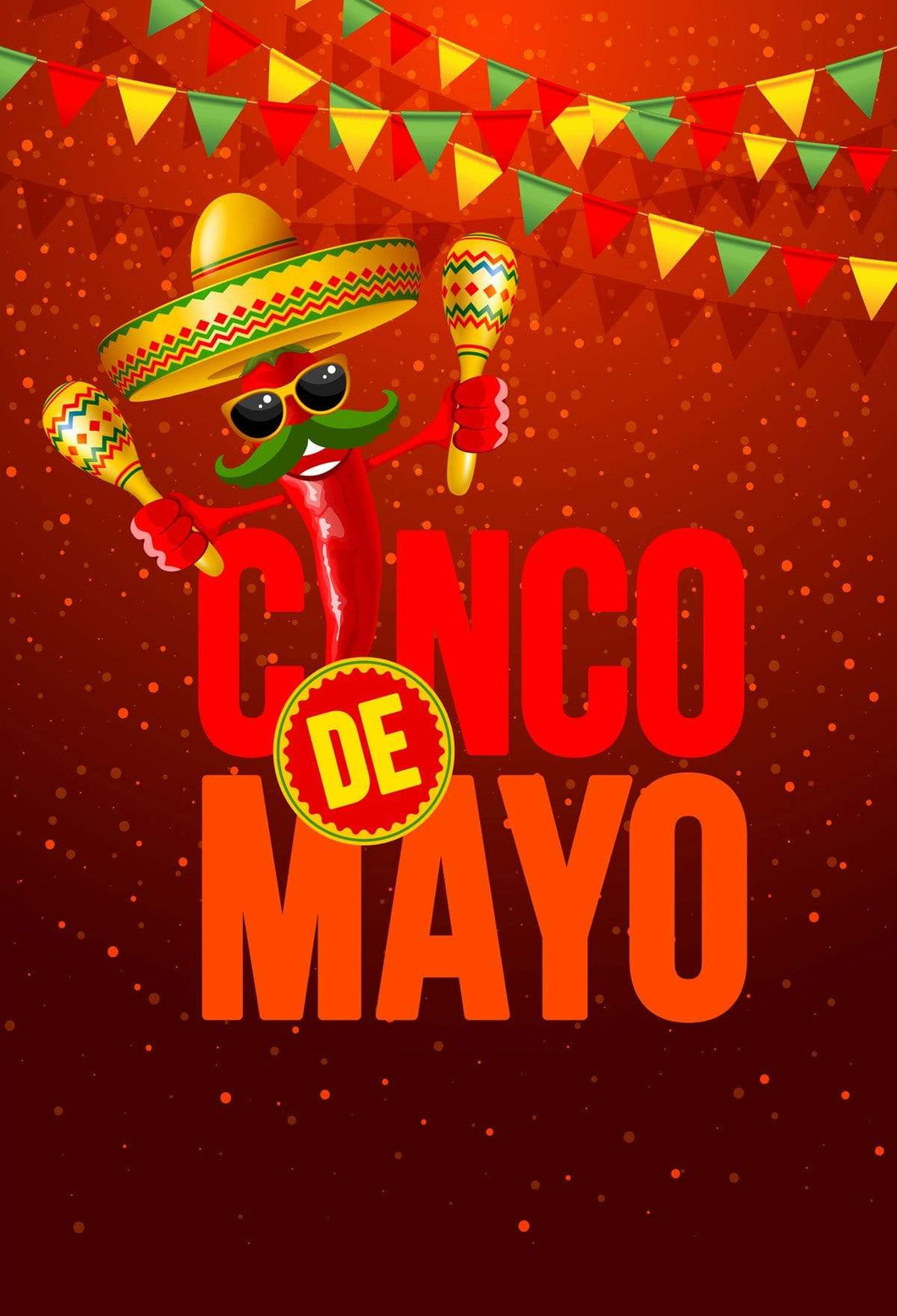 Katebackdrop:Kate May 5 Fiesta flag Party Backdrop Cinco De Mayo Carnival Background