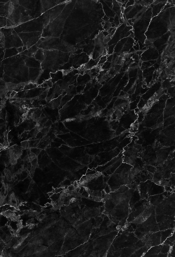 . Kate Dark Black Marble Stone Texture Backdrop