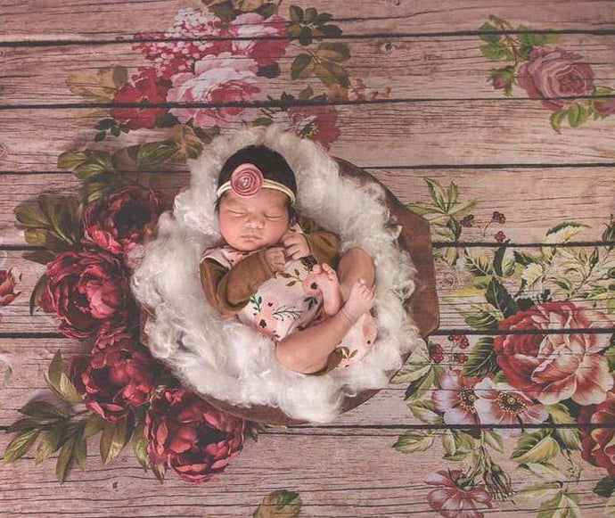 Katebackdrop£ºKate Flowers Wood Backdrop for Photography