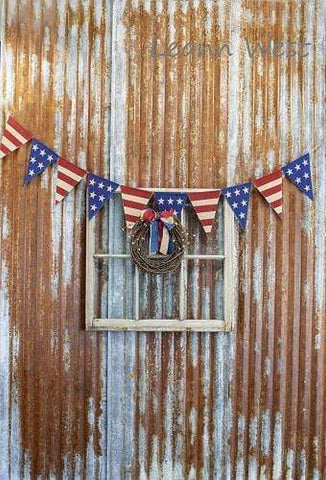 Kate Independence day Vintage Rust Wall Sports Banner Backdrop Designed by Leann West